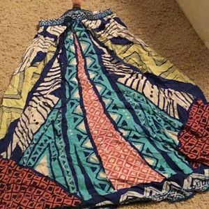 Flying tomato maxi skirt multi colored